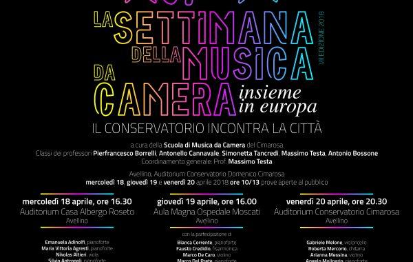 SETTIMANA DELLA MUSICA DA CAMERA 2018